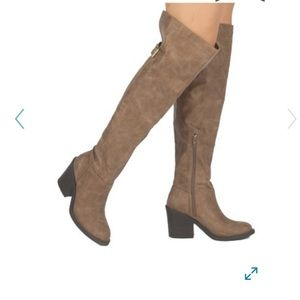 Qupid Marcel Buckle Over-the-Knee Boots